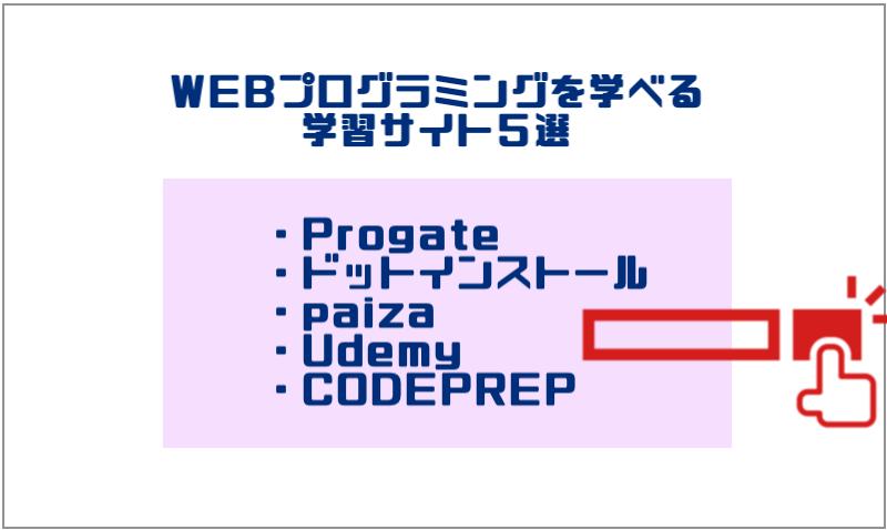 2.WEBプログラミングを学べる学習サイト5選(無料あり)