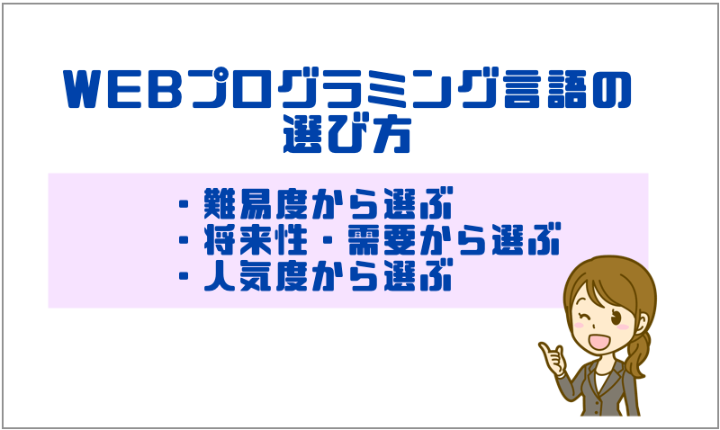 2.WEBプログラミング言語の選び方