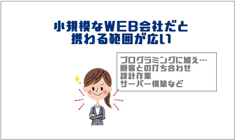 2.小規模なWEB会社だと携わる範囲が広い